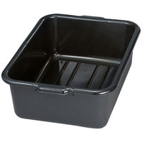 Tablecraft 1537E Black 21 inch x 16 inch x 7 inch Recycled Polyethylene Plastic Bus Tub, Bus Box