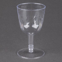 Fineline Flairware 2206 5 oz. Clear Plastic Wine Goblet - 2 Piece 20 / Pack