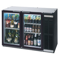 Beverage Air BB48GYF-1-B 48 inch Back Bar Refrigerator with Black Exterior and 2 Glass Doors - 115V