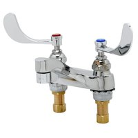 T&S B-0890-VRS Vandal Resistant 2.2 GPM Deck Mount Mixing Faucet with 4 inch Centers, 4 inch Wrist Action Handles, and Eterna Cartridges