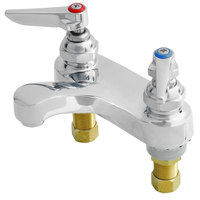 T&S B-0890-177F Deck Mount Mixing Faucet with 4 inch Centers, Aerator, and Cerama Cartridges