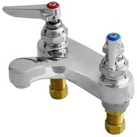 T&S B-0871-VF05 Vandal Resistant 0.5 GPM Deck Mount Centerset Faucet with 4 inch Centers and Eterna Cartridges
