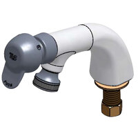 T&S B-0806-PA Vandal Resistant Single Temperature Deck Mount Metering Faucet with Pivot Action Metering Cartridge