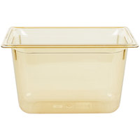 Vollrath 9038410 1/3 Size Amber High Heat Food Pan - 8 inch Deep