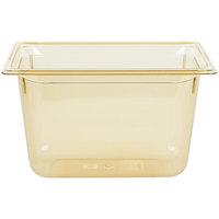 Vollrath 9038410 1/3 Size Amber High Heat Food Pan - 8 inch Deep