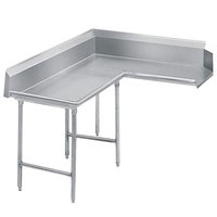 Advance Tabco DTC-K30-48 Spec Line 4' Stainless Steel Korner Clean L-Shape Dishtable