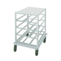 Advance Tabco CR10-54 Spec Line Half Size Mobile Aluminum Can Rack with Aluminum Top