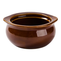 Brown 12 oz. Onion Soup Crock / Bowl - 24 / Case