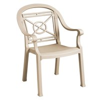 Grosfillex Victoria Classic Stacking Resin Armchair - Sandstone