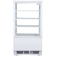 Avantco FSG-3 White Countertop Display Refrigerator with Swing Door - 3 cu. ft.