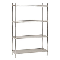 Advance Tabco SHC-1860 18 inch x 60 inch Solid Stainless Steel Shelving Combo