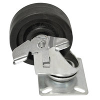 Advance Tabco RA-45 4 inch Hi-Temp Oven Rack Swivel Plate Caster with Brake