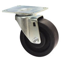 Advance Tabco RA-40 4 inch Hi-Temp Oven Rack Swivel Plate Caster with Built-In Zerk Grease Fitting