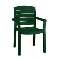 Grosfillex Acadia Classic Stacking Resin Armchair - Amazon Green
