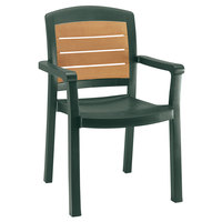 Grosfillex 49453078 / US453078 Aquaba Amazon Green Classic Stacking Resin Armchair