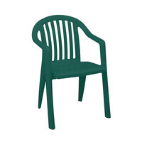 Grosfillex Miami Lowback Stacking Resin Armchair - Amazon Green