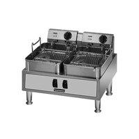 Toastmaster TMFE30 Twin Pot 15 lb. Electric Countertop Fryer