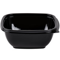 Sabert 95012B500 Bowl2 12 oz. Black Square Deli Bowl - 500/Case