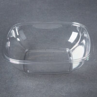Sabert 18032B300 Bowl2 32 oz. Clear PETE Square Deli / Catering Bowl   - 300/Case