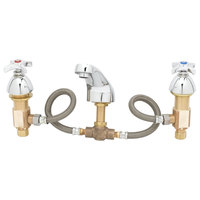 T&S B-2487 Deck Mount Mixing Faucet with 6 inch - 24 inch Adjustable Centers and 4 Arm Handles
