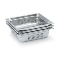 Vollrath 90023 Super Pan 3® Full Size Anti-Jam Stainless Steel Perforated Steam Table Pan - 2 1/2 inch Deep