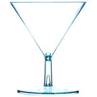 Fineline Tiny Temptations 6401-GRN 2 oz. Tiny Tini 2-Piece Green Plastic Glass - 12/Pack