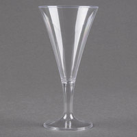 Fineline Tiny Temptations 6412-CL 2 oz. Tiny Barware Clear Plastic Round Champagne Flute - 8/Pack