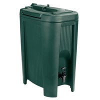 Carlisle XB508 Forest Green 5 Gallon Slide N' Seal Insulated Beverage Dispenser