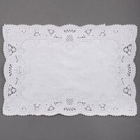 Hoffmaster 310711 10 inch x 14 inch White Normandy Lace Paper Placemat with Scalloped Edge - 1000 / Case