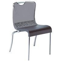 Grosfillex Krystal Resin Indoor Stacking Chair - Smoke