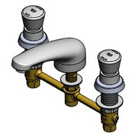 T&S B-2991-WS WaterSense Easy Install Faucet with 8 inch Centers, 1.5 GPM Spout, and Push Button Caps