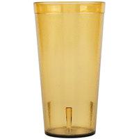 Carlisle 522013 20 oz. Amber SAN Plastic Stackable Tumbler - 72/Case