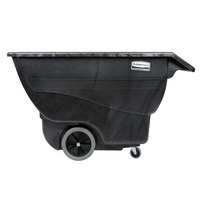 Rubbermaid FG101100BLA Black 0.75 Cubic Yard Tilt Truck (600 lb.)