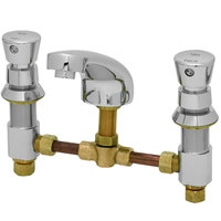 T&S B-2991-VR Vandal Resistant Easy Install Faucet with 8 inch Centers, 5 inch Spout, and Push Button Caps