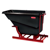 Rubbermaid FG105900BLA Black 1.0 Cubic Yard Self Dumping Hopper (1000 lb.)