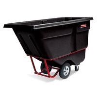 Rubbermaid FG130600BLA Black 0.5 Cubic Yard Tilt Truck (1400 lbs)