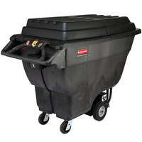 Rubbermaid FG102300BLA Hinged Lid for FG102000BLA Motorized Tilt Truck