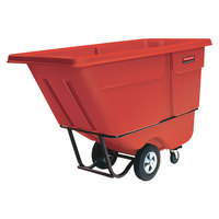 Rubbermaid FG131500RED Red 1.0 Cubic Yard Tilt Truck (1250 lb)