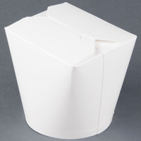 SmartServ 26SSPLAINM 26 oz. White Microwavable Paper Take-Out Container - 25/Pack