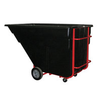 Rubbermaid FG102500BLA Black 1.5 Cubic Yard Tilt Truck (1200 lb.)