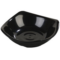 Carlisle 794003 Black 2 oz. Square Melamine Dish - 48 / Case
