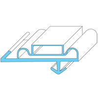 All Points 74-1218 Magnetic Door Gasket - 25 1/4 inch x 64 inch