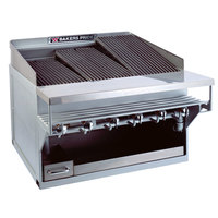Bakers Pride CH-14GS 76 inch 14 Burner Heavy Duty Glo-Stone Charbroiler - 252,000 BTU