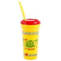 32 oz. We Squeeze to Please Tall Plastic Souvenir Cold Cup with Straw and Lid - 300/Case