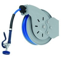 T&S B-7232 35' Open Hose Reel with 3/8 inch NPT Male Spray Valve Connection