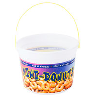 48 oz. Plastic Mini Donut Bucket with Handle - 160 / Case