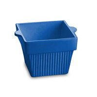 Tablecraft CW1460BL 1.5 Qt. Cobalt Blue Cast Aluminum Square Condiment Bowl