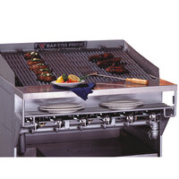 Bakers Pride CH-6 Radiant Charbroiler Stainless Steel Plate Shelf with Richlite Work Deck