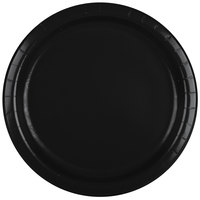 Creative Converting 47134B 9 inch Black Velvet Paper Plate - 240 / Case