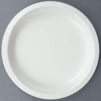 Creative Converting 50000B 10 inch White Paper Banquet Plate - 240/Case